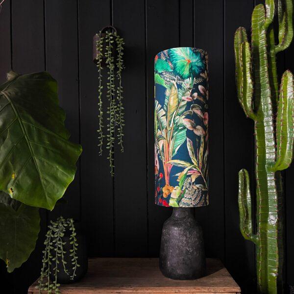 Handmade Tropical Leaf Magic Fruits Tube Lampshade