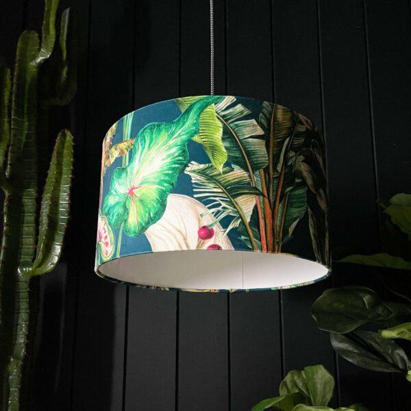 Handmade Tropical Leaf Magic Fruits Lampshade