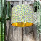 Neon Leopard Print Animal print lampshade in Sherbet Yellow
