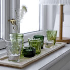 Moss Green Votive Candle Set