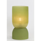 Large Olive Green Glass Table Lamp