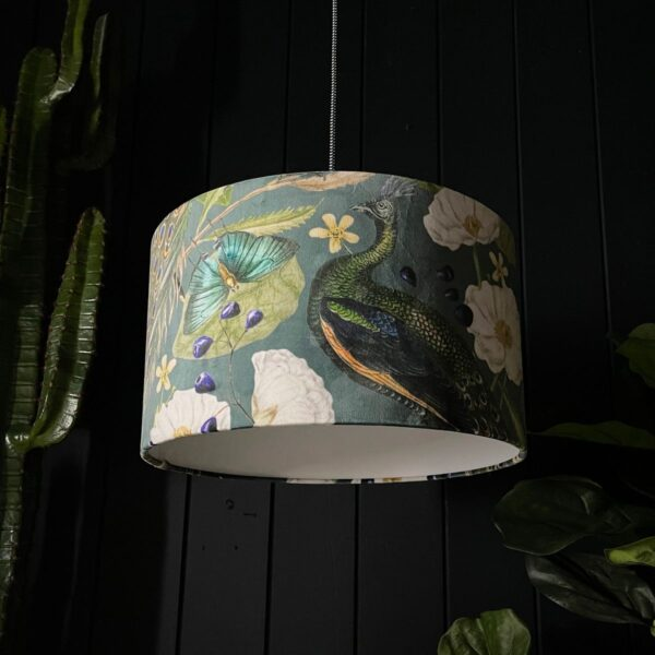 Handmade Peacock Floral Mystical Plumes Lampshade