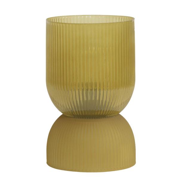 Ochre Yellow Glass Table Lamp
