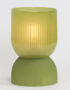 Olive Green Glass Table Lamp