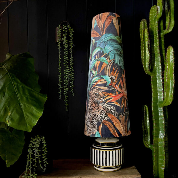 Oversized Cone Lampshade - Fable the lounging Leopard