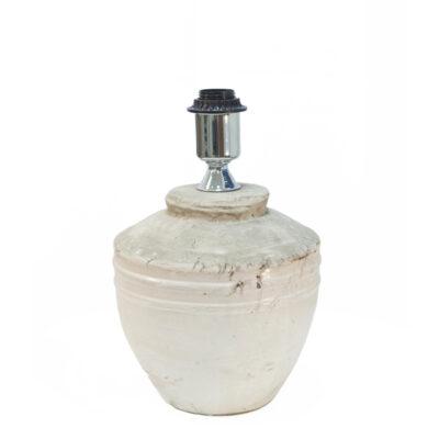 White Organic Rustic Lamp Base