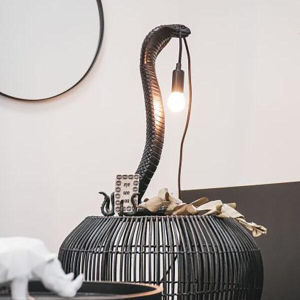 Black Cobra Snake Lamp