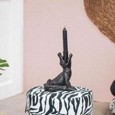 love-frankie-black-croc-candlestick