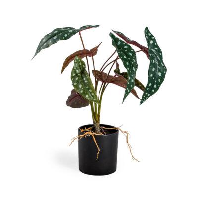 Faux Philo Leaf Potted Plant
