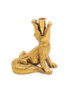 Gloriously Gold Croc Candlestick