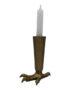 Contemporary Gold Talon Candlestick