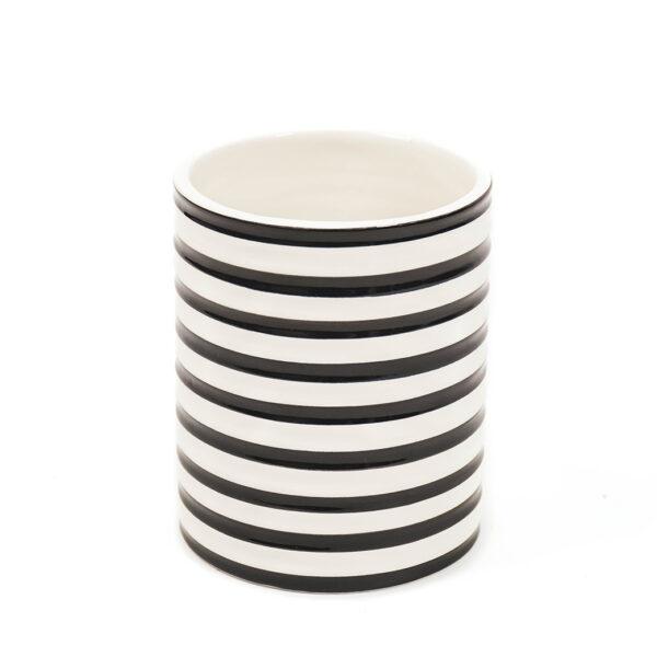 Monochrome Striped Vase