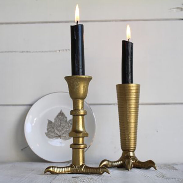 love-frankie-contemporary-gold-talon-candlestick