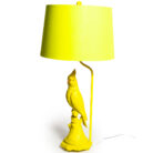 Quirky Yellow Parrot Lamp Base With Matching Yellow Lamp Shade