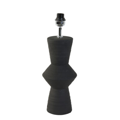 Abstract Lamp Base in a deliciously dark jet black