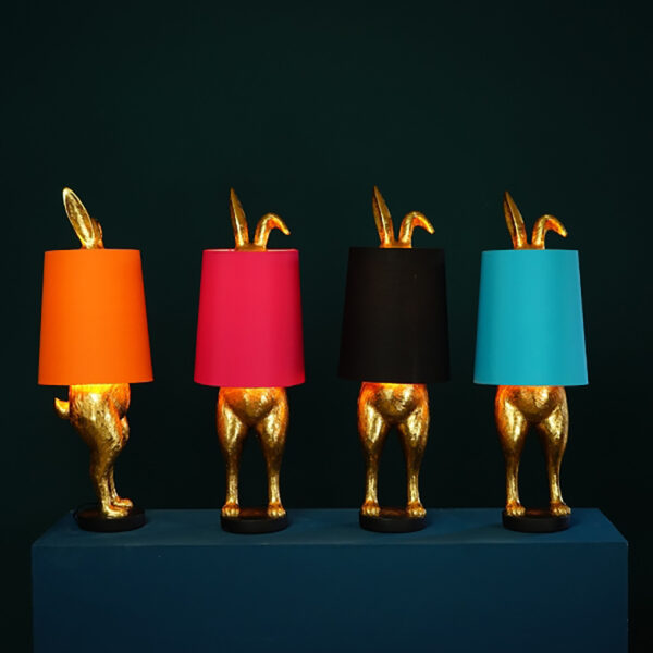 Hiding Bunny Quirky Lamp Base with Lampshades