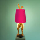 Hiding Bunny Quirky Lamp Base with Pink Lampshade