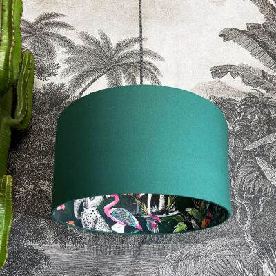 Emerald ChiMiracle Lampshade In Hunter Green Cotton